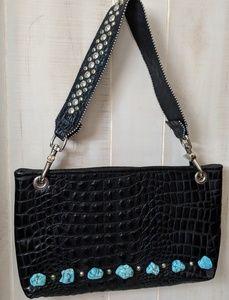 😍KurtMen Design Crocodile Turquoise Black  bag 👛